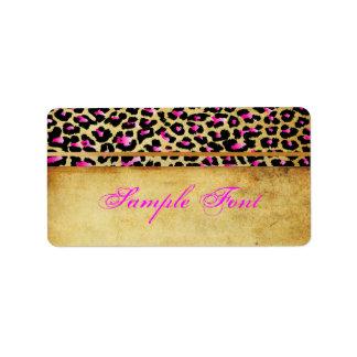 PixDezines Safari, pink cheetah Label