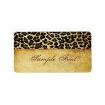 PixDezines Safari, vintage cheetah Label
