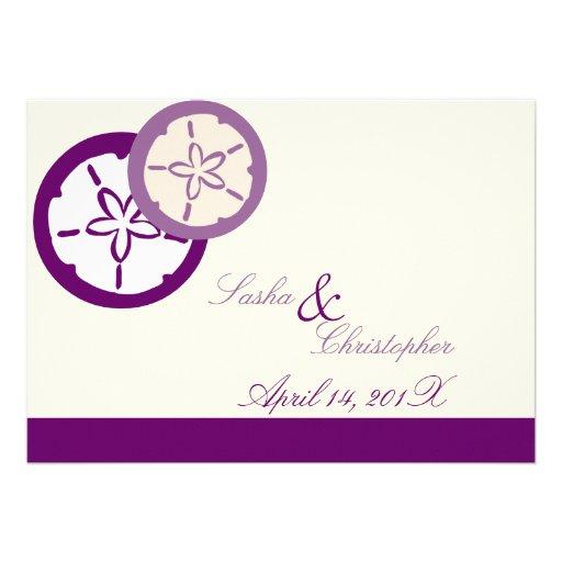 PixDezines Sand Dollar Starfish/DIY Color!! Personalized Announcements