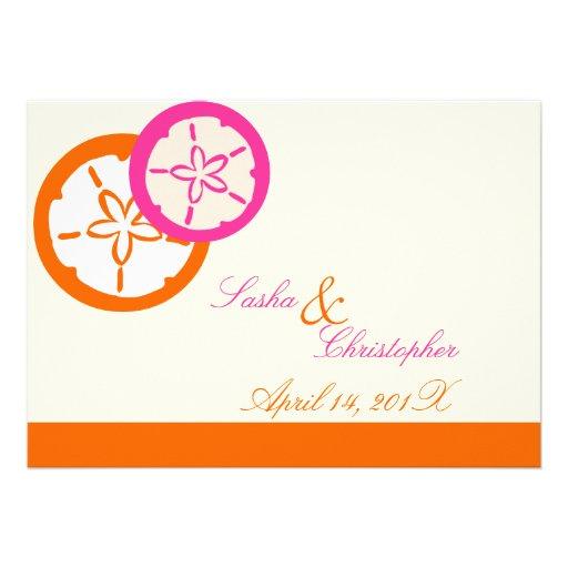 PixDezines Sand Dollar Starfish|DIY Colors!! Custom Invitations