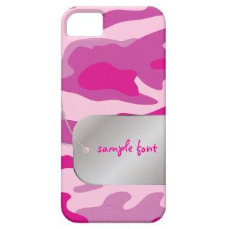 PixDezines Sassy Camo+Dog+Tag iPhone SE/5/5s Case