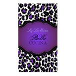 PixDezines Sassy cheetah print/purple+black Double-Sided Standard Business Cards (Pack Of 100)