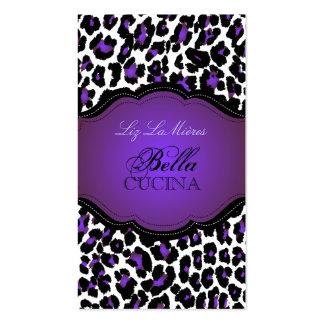 PixDezines Sassy cheetah print/purple+black Business Cards
