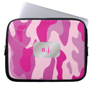 PixDezines sassy pink camo Computer Sleeve