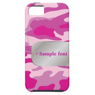 PixDezines Sassy Pink Camo+Dog+Tag iPhone SE/5/5s Case