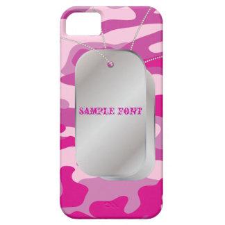 PixDezines Sassy Pink Camo+Dog+Tags iPhone SE/5/5s Case