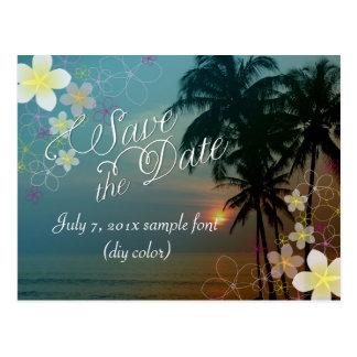 PixDezines/save date/hula dream/sunset Postcard