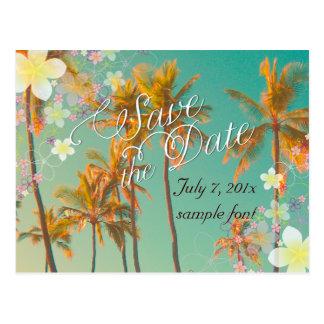 PixDezines/save date/hula dream/vintage hawaii Postcard