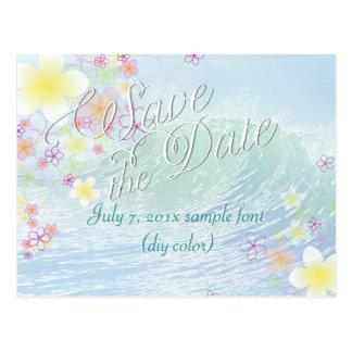 PixDezines/save date/hula dream/waves Postcard
