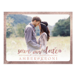 PixDezines Save the Date/Brush Script Postcard