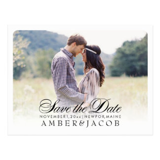 PixDezines Save the Date/Fancy Script Postcard