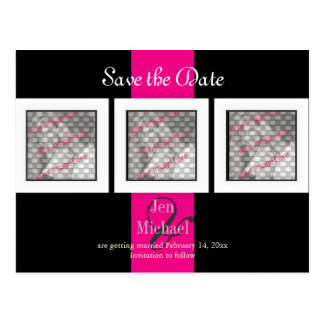 PixDezines save the date photo frames/DIY colors Postcard