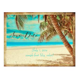 PixDezines/save the date/vintage beach Postcards