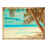 PixDezines/save the date/vintage tropical beach Postcard
