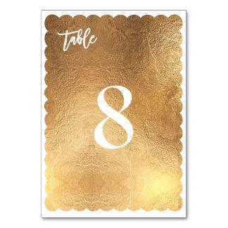 PixDezines Scallop Faux Gold/Antique/Table No. Card