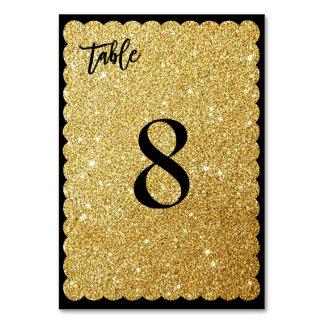 PixDezines Scallop Faux Gold/Glitter/Table No. Card
