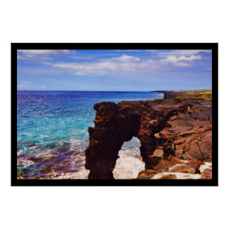 PixDezines Sea Arch, Crator Rim Drive Poster