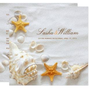 Seashell Wedding Invitations Zazzle