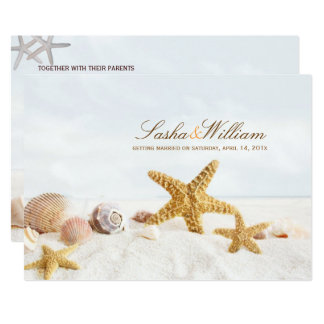 PixDezines Seashells/Beach Invitations