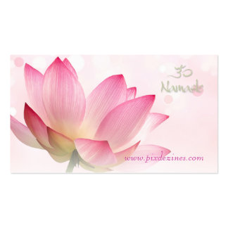 PixDezines serenity pink lotus, Om yoga, healers Double-Sided Standard Business Cards (Pack Of 100)