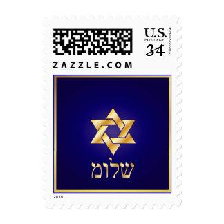PixDezines Shalom, Postcard Postage 29 cents
