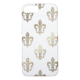 PixDezines silver gold fleur de lis/DIY background iPhone 8/7 Case