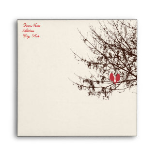 PixDezines Snow Birds | Fall + Winter Invitations Envelope