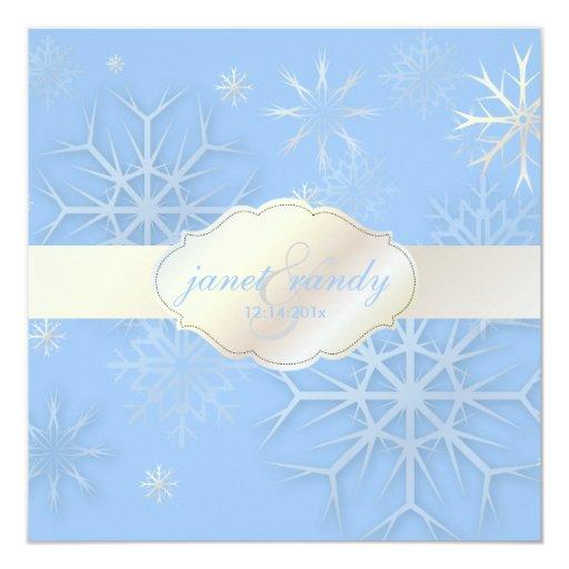 PixDezines Snowflakes, Winter Wedding/DIY color! Card