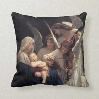 PixDezines songs of angels/bouguereau Throw Pillow