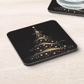 PixDezines Sparkling Christmas Tree Beverage Coasters
