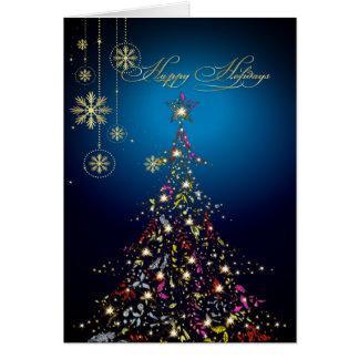 PixDezines Sparkling Christmas Tree DIY color Greeting Card