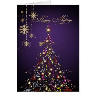 PixDezines Sparkling Christmas Tree DIY color Cards