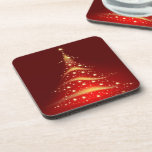 PixDezines Sparkling Christmas Tree Drink Coaster