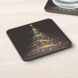 PixDezines Sparkling Christmas Tree Drink Coasters