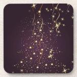 PixDezines Sparkling Christmas Trees Coaster