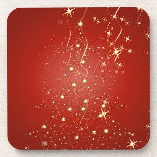 PixDezines Sparkling Christmas Trees Beverage Coaster