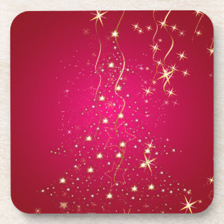 PixDezines Sparkling Christmas Trees Beverage Coasters