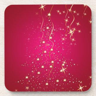 PixDezines Sparkling Christmas Trees Drink Coaster