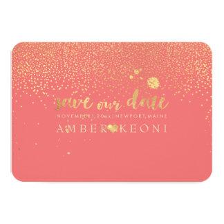 PixDezines Speckles Faux Gold/Save Date/DIY Color Card
