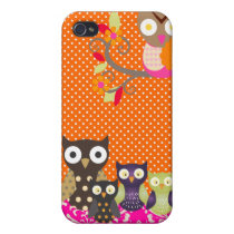 PixDezines spotted owls/DIY background color iPhone 4/4S Cover