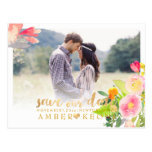 PixDezines Spring Floral Save the Date Postcard
