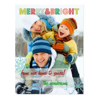 PixDezines sprinkles with snow photo template Post Cards