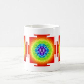 PixDezines Sri Yantra Chakra Clearing/Orange Coffee Mug