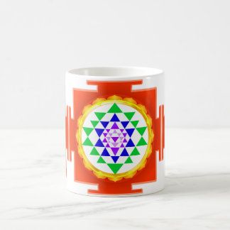 PixDezines Sri Yantra Chakra Clearing/Orange Glow Coffee Mug