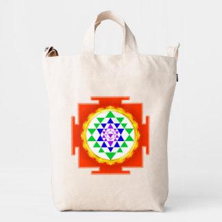 PixDezines Sri Yantra Chakra Clearing/Orange Glow Duck Bag