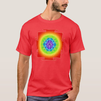 PixDezines sri yantra/chakra clearing/rainbow T-Shirt