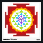 """PixDezines Sri Yantra/Mandala/Red Wall Decal<br><div class=""""desc"""">PixDezines Sri yantra mandala focus point for meditation to access your higher self.  DIY background colors.com.  All rights reserved.</div>"""