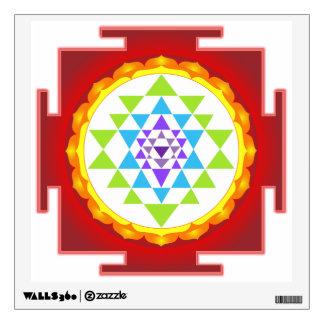 PixDezines Sri Yantra/Mandala/Red Wall Decal