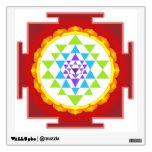 PixDezines Sri Yantra/mandala/rojo Vinilo Decorativo