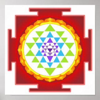 PixDezines Sri Yantra/meditación/Chakra Póster